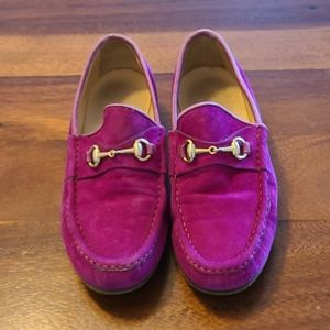 Vintage Classic Gucci Horsebit Suede Loafers